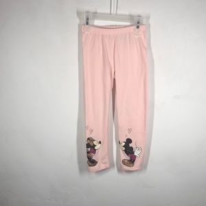 Disney Mickey & Minnie Mouse pink leggings 4T